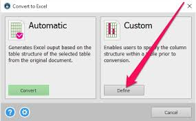 how to convert pdf table to excel convert pdf table to excel option for custom pdf conversion to excel