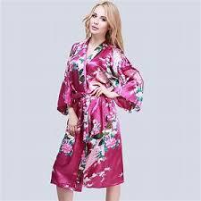 robe de chambre satin kimono peignoir femme peignoir court forme kimono femme en satin