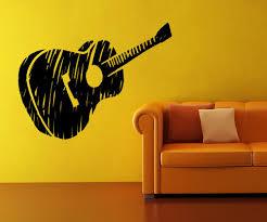 vinyl wall decal sticker guitar sketch os mb919