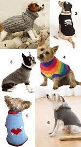 step by step instructions for our basic knitted dog sweater
