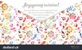 Engagement Invitation Cards Images Engagement Invitation Card Watercolor Flowers Vector Stock Vector