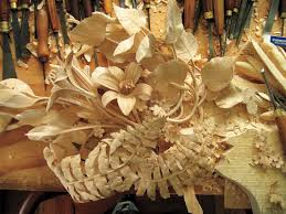 david esterly master woodcarver works in limewood like grinling