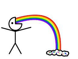 Rainbow Meme - image 118707 puking rainbows know your meme