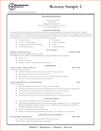 Best Resume Format For Students Academic Resume Template For College Free Resume Example And