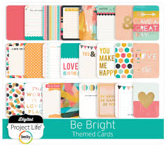 digital project be bright themed scrapbooking cards