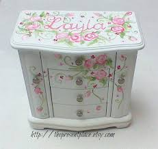 personalized girl jewelry box large white jewelry box four drawers personalized jewelry box pink