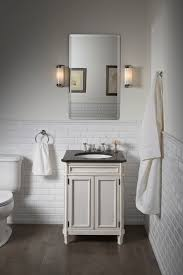 subway bathroom tile with a slightly beveled texture gives it just