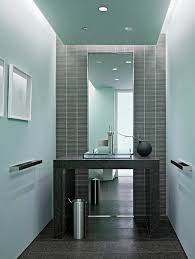 Drop Ceiling Tiles For Bathroom Drop Ceiling Tiles Powder Room Modern With Blue Walls Glass Sink