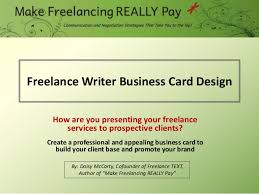 Writer Business Card How To Design A Freelance Writer Business Card
