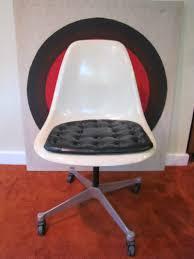 authentic herman miller shell chair white fiberglass swivel chair