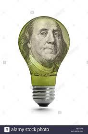 ben franklin light bulb energy bill stock photos energy bill stock images alamy