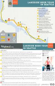 Portland Brewery Map by Lakeside Beer Tour In Seattle U2014 Bikabout