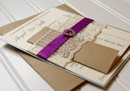lace wedding invitations unique handmade lace ribbon and