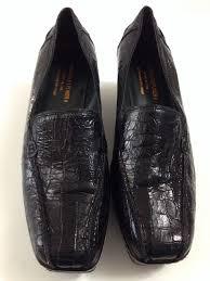 donald pliner u0027peni u0027 platform wedge loafer croc black leather 9