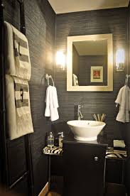 Small Powder Room Decorating Ideas Pictures Great Wall Mounted Lamp White Ceramic Sink Small Powder Room