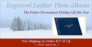 leather photo albums engraved engraved leather photo albums gallery leather bar