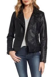 leather biker jacket steve madden steve madden studded faux leather biker jacket