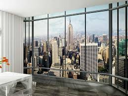 1wall new york skyline window view wallpaper photo wall mural 1wall new york skyline window view wallpaper photo wall mural amazon co uk