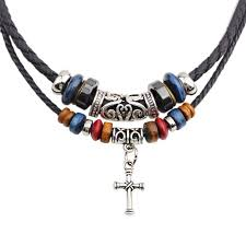 bead cross pendant necklace images Buy bohemian multilayer cross necklace with wood beads jpg