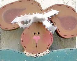 Wooden Outdoor Easter Decorations by Happy Easter Bunny Yard Sign Wood Bunny Rabbit Yard Stake