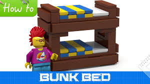 how to make a lego bunk bed basic moc youtube