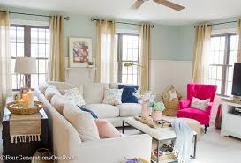 decorating livingroom blue pink living room decorating ideas four generations one roof