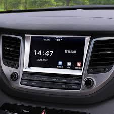 hyundai tucson navigation car styling interior navigation panel decorative frame