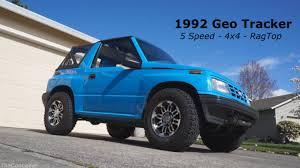 chevy tracker convertible 1992 geo tracker walk around 5 speed 4x4 rag top youtube