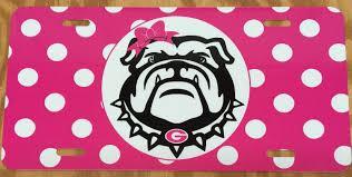 georgia bulldogs license plate georgia bulldogs car tag pink