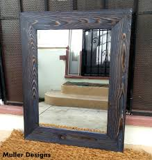 Wood Mirrors Bathroom Wood Mirror Navy Blue Vanity Mirrors Bathroom Mirrors