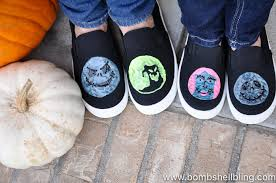 glow in the nightmare before shoes
