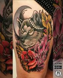 neotraditional wolf tattoos center