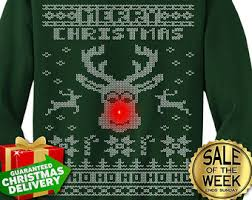 rudolph sweater etsy