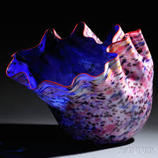 Chihuly Vase Dale Chihuly American B 1941 Large Macchia Series Vessel