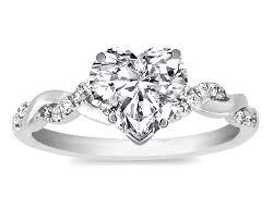 diamond heart ring engagement ring heart shape diamond twisted pave band