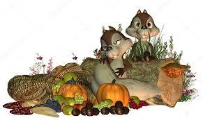 fall goofy thanksgiving squirrels stock photo deaddogdodge