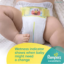 Comfort Diapers Amazon Com Pampers Swaddlers Diapers With Wetness Indicator And