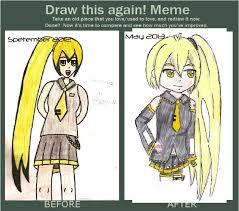 Draw This Again Meme Fail - akita neru best fail of draw this again meme by mlsalgadinho on