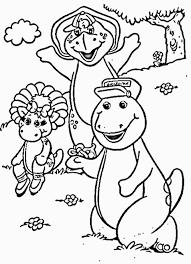barney cartoons coloring
