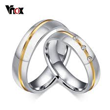 aliexpress buy 2017 wedding band for men 316l aliexpress buy vnox wedding rings for women men 316l
