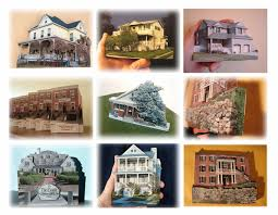 personalized ornaments souvenir magnet miniature house