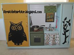 diy play kitchen ideas upcycled play kitchen from an old entertainment center for the