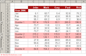 excel rows u0026 columns grouping