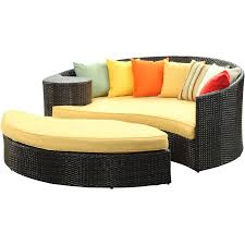 catalog lexmod taiji outdoor wicker patio daybed with ottoman in