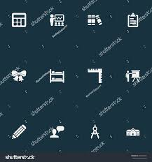 vector illustration set simple knowledge icons stock vector
