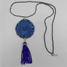 vintage blue stone necklace images Charms classic traditional chinese ancient vintage pattern blue jpg