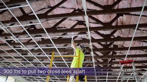 Drop Ceiling Installation by Fast U0026 Easy Acoustical Ceiling Installation By Armstrong Youtube