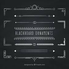 blackboard ornaments vector free