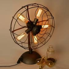 Unique Fan Fan Vintage Table Lamp Unique Atmosphere In The Room With