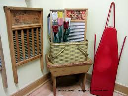Vintage Laundry Room - organized clutter a 1950s laundry room vignette